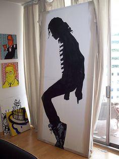 Michael Jackson stencil painting by Alec by Alec Street Art, via Flickr
