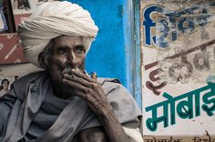 #47 People Faces: The smoking man...   Ghar village   India https://www.flickr.com/photos/travelife/14941647351/ © Daniele Romeo Photographer https://www.facebook.com/PeopleFaces https://plus.google.com/+PeopleFacesCommunity
