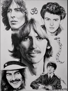 Inktober George Harrison by luceene-k on DeviantArt George Harrison Son, The Rest Is Silence, Music Genius, Beatles Art, The Fab Four, Abbey Road, Ringo Starr, Independent Films, Punk