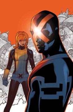 Uncanny Cyclops and All-Nu Jean Grey ~ art by Chris Bachalo Marvel Comics Art, Marvel Comic Books, Comic Book Heroes, Marvel Characters, Comic Books Art, Jack Kirby, Stan Lee, Jean Grey, Comic Book Artists