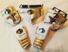 Full Cowhide Metallic Gold leather Grant Boxing Gear Latest Designs 2017 Best sellers