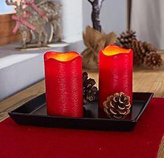 led kerzen aus echtem wachs mit timerfunktion weihnachten kerzen led kerzen und beleuchtung. Black Bedroom Furniture Sets. Home Design Ideas