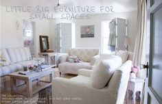 The Official Rachel Ashwell Shabby Chic Couture Site - I love those big shutters at the windows!