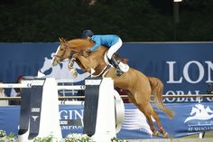 Luciana Diniz and Fit For Fun on their way to the win in the GCT final grand prix in Doha