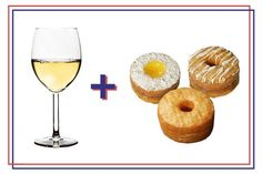 "Wine and donuts, who knew? Wine's low alcohol content (around 5-7%) is good for a weekend brunch.""This particular type of wine has a floral quality, almost peach, like an orchard of fresh flowers."" While it may seem counterintuitive to pick something sweet to go with a sugary donut, it actually makes perfect sense: ""A lower alcohol content means higher residual sugar, which pairs well with the sugar in the donut,"" Kaner says."