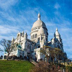 Montmartre's Sacre Coeur. Photo courtesy of nodestinations on Instagram.