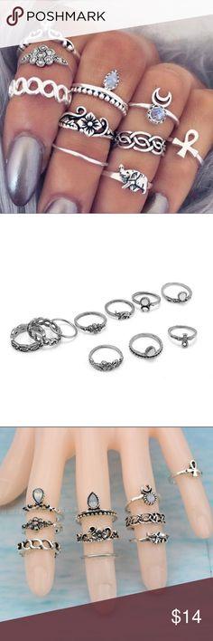 Vintage Knuckle Ring Set Set of 10 Vintage Knuckle Rings! So trendy! Jewelry Rings