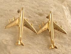 14kt Or Silver Jet Airplane Earrings By Renaissancejewelers 365 00 Design