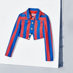 Tommy Hilfiger Cropped Striped Jacket - mars red/multi (Red) - Tommy Hilfiger Jackets - main image