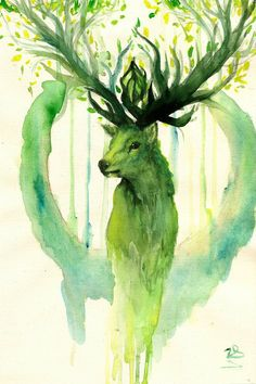 deer spirit of the forest by zarielcharoitite