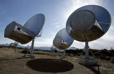 In this Oct. 9, 2007 file photo, radio telescopes of the Allen Telescope Array…