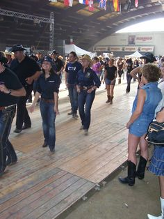 Line-dance. I could do this every night!
