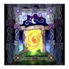 Celtic Doorway Shower Curtain
