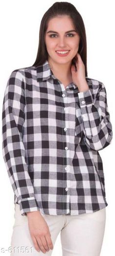 Shirts Stylish Cotton Shirt  *Fabric* Cotton  *Sleeves* Sleeves Are Included  *Size* S- 36 in, M- 38 in, L- 40 in  *Length* Up To 26 in  *Type* Stitched  *Description* It Has 1 Piece Of Women's Shirt  *Pattern* Checkered  *Sizes Available* S, M, L, XL, XXL *   Catalog Rating: ★4 (130)  Catalog Name: Free Mask  Trendyfrog Cecilia Sassy Cotton Shirts Vol 2 CatalogID_68485 C79-SC1022 Code: 552-611561-