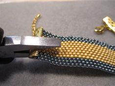 Stitch Pro: One Way to Finish a Flat Peyote-Stitch Band - Inside Beadwork Magazine - Blogs - Beading Daily