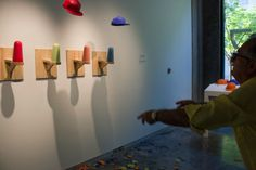 forrest gard - ceramic artist with a propensity towards sport and accessible art, has audience members participate in exhibits in which they play games with the art, often breaking the pieces in the act.