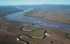 Aerial view of the Charley River entering the Yukon River in the Yukon-Charley River National Preserve, Alaska. Photo by USGS. Ocho Rios, Rio Grande, National Geographic, Yukon Alaska, Yukon River, Sea To Shining Sea, Ohio River, River Thames, Go Outside