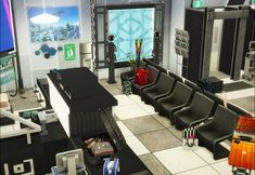 Sims 4 CC's - The Best: Airport by nyuska