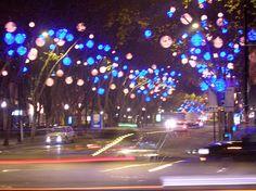 lisbon christmas street lights
