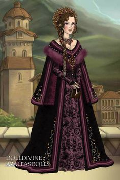 Royal Purple ~ by Inanna ~ created using the LotR Hobbit doll maker | DollDivine.com