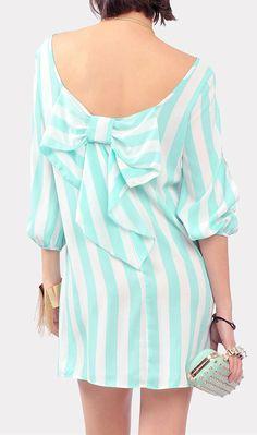 Mint Bow Back Dress