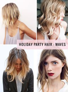 Holiday party hair : Waves