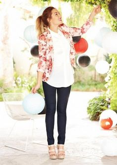 lauren conrad 2015 clothing line - Love the Peter Pan collar and flowery blazer