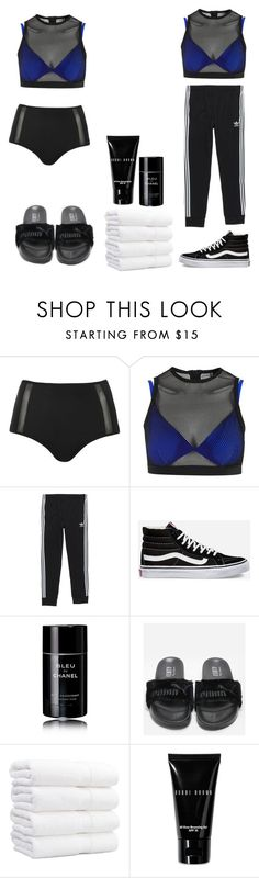 """""""pool day"""" by keniq ❤ liked on Polyvore featuring Topshop, adidas, Vans, Chanel, Puma and Bobbi Brown Cosmetics"""