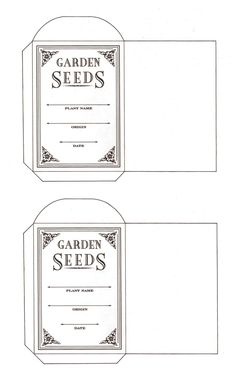 Flowers and a seed packet pattern... |free ptintable. Content in a Cottage