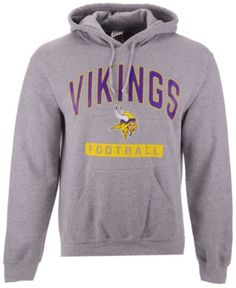 c237f681f Authentic Nfl Apparel Men's Minnesota Vikings Gym Class Hoodie - Gray S