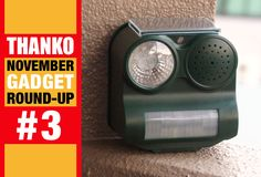 Set this bad boy to 1. Eagle Screech, 2. Dog Bark, or 3. Gun Shot (the three alert sound options), crank the volume up to 10, and sleep well knowing that flashing lights and obnoxious sounds will keep your trash safe and unmolested.