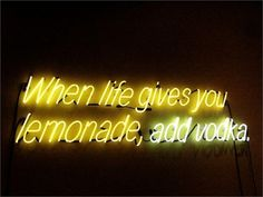 mentaltimetraveller: rob pruitt Rob+pruitt lemonade contemporary art artist inspiration home neon lights jbrand j+brand