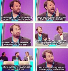 Funnily enough, I have a project going to try to seem acceptable in broader society too. Or, as my mum calls it 'trying to seem human'. British Sitcoms, British Comedy, Haha Funny, Hilarious, Rainy Day Quotes, Comedian Quotes, British Humour, Gallows Humor, David Mitchell