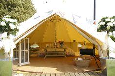 www.thecanvascottagecompany.co.uk  Wedding Bell Tent....Romantic!