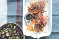 Hoofdgerecht - vlees - Eendenborst met sinaasappel en balsamicoazijn