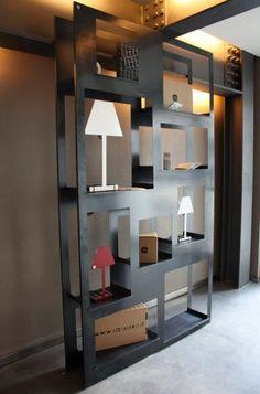 metal bookcase