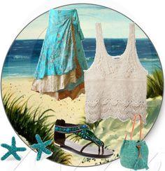 """Beach"" by titamenachogaliano on Polyvore"