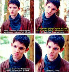 Protective Merlin. :3