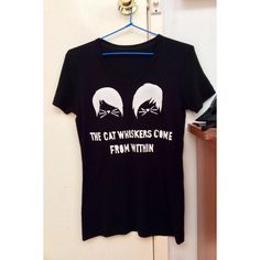 Danisnotonfire and Amazingphil Graphic T Shirt Phan Cat Whiskers ($15) ❤ liked on Polyvore featuring tops, t-shirts, black and women's clothing