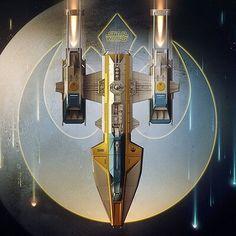 Alien Concept Art, Star Wars Concept Art, Star Wars Fan Art, Star Ship, Star Wars Vehicles, Spaceship Design, Rebel Alliance, Star Trek Universe, Star Wars Ships