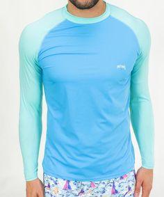 Men s Rash Guard - Aqua Turquoise a67a0a394