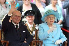 Prince Philip and Queen Elizabeth II.