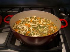 ina garten's chicken noodle soup. my favorite! | food: soup