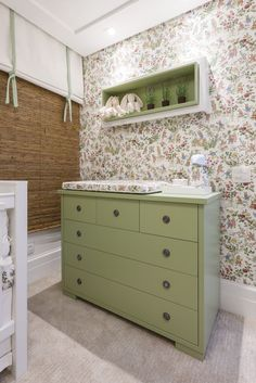 Cômoda Boston  #cômoda #green #verde #décor #decoração #decoration #design #bedroom