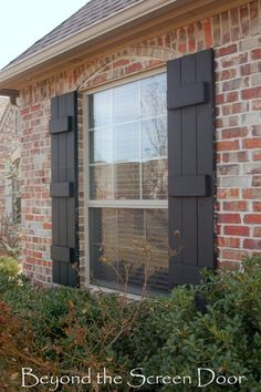 Painting Shutters & Our Home's Exterior | Beyond the Screen Door