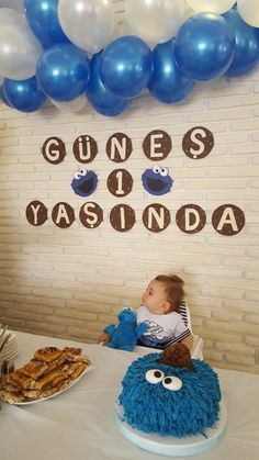 Little cookie monster turns one