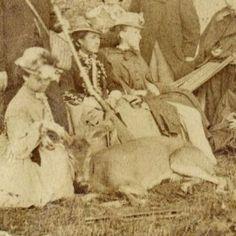 1865 upstate New York picnic with deer.