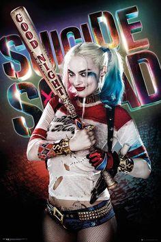 Póster Harley Quinn. Escuadrón Suicida  Póster con la imagen de Harley Quinn, basada en la película Escuadrón Suicida.