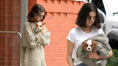 Selena Gomez looks downcast in New York City as she cradles new puppy
