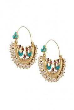 SILVER TURQUOISE AND PEARL CHAANDBALI EARRINGS Pearl Jewelry, Indian Jewelry, Bridal Jewelry, Antique Jewelry, Silver Jewelry, Fine Jewelry, Statement Jewelry, Amarpali Jewellery, Jewlery